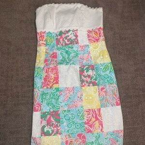 Adorable Strapless Lily Pulitzer Dress! Brand New!